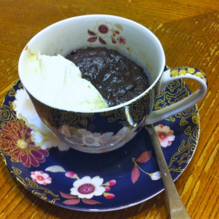 Flourless Microwave Chocolate Pudding